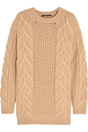Aran-knit cashmere sweater