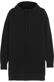 Waffle-knit cashmere hooded sweater