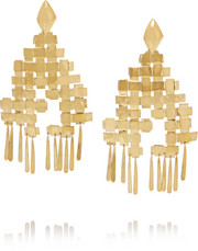 Aurélie Bidermann Marella gold-plated earrings