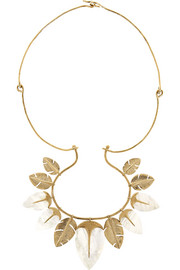 Aurélie Bidermann Talitha gold-plated mother-of-pearl necklace