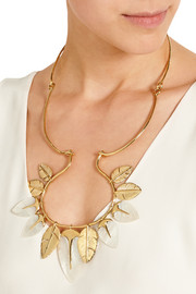 Talitha gold-plated mother-of-pearl necklace