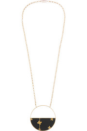 Aurélie Bidermann Bianca gold-plated onyx necklace