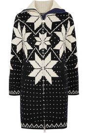 Fair Isle intarsia wool-blend sweater dress