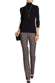 Missoni Patterned crochet-knit straight-leg pants