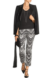 Missoni Cropped wool-blend jacquard flared pants