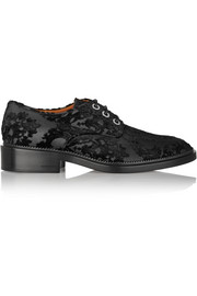 Damasco flocked canvas brogues