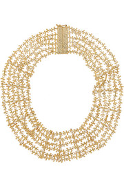 Fata gold-tone pearl necklace
