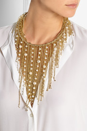 Petardi gold-tone pearl necklace