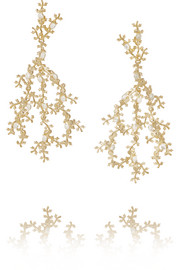 Fata gold-tone pearl earrings