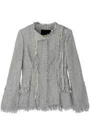 Frayed tweed jacket
