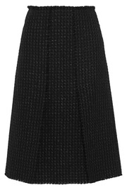 Split tweed skirt