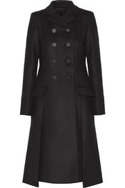 Double-breasted wool-blend gabardine coat