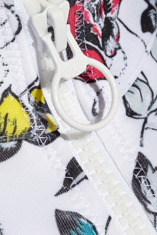 adidas by Stella McCartney Printed neoprene bikini top