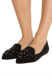 Hilery embellished suede slippers