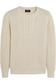Isola textured-alpaca and wool sweater