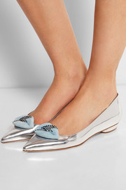 Bolero embellished leather point-toe flats