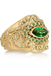 Cashmere 18-karat gold multi-stone ring