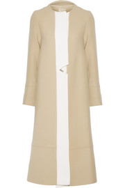 Minotaur two-tone wool coat