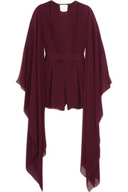 Silk-chiffon playsuit