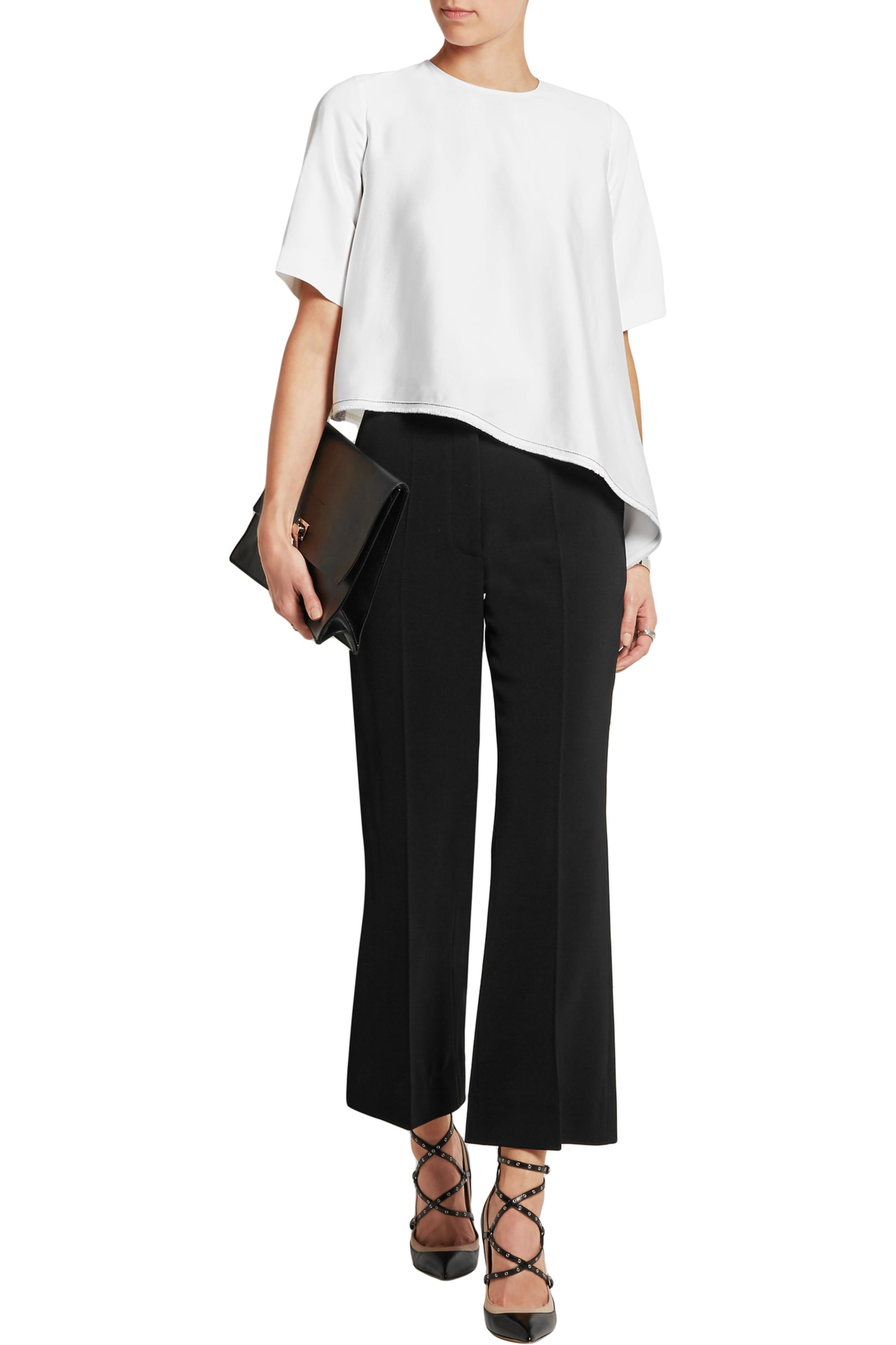Vanessa Bruno Asymmetric satin top
