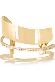 Orbit 14-karat gold diamond cuff