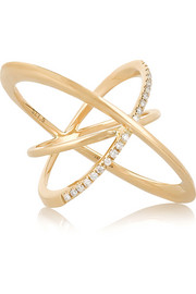 Orbit 14-karat gold diamond ring