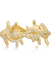 Barbed Wire 14-karat gold diamond ring