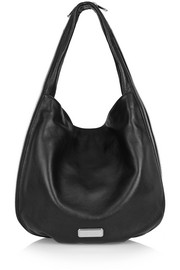 Hillier textured-leather shoulder bag