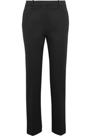 Wool-twill straight-leg pants