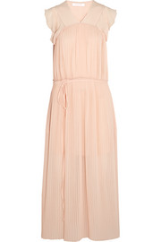 See by Chloé Pleated georgette maxi dress