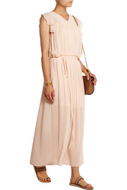 Pleated georgette maxi dress