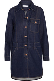 See by Chloé Stretch-denim mini shirt dress