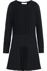 See by Chloé Pleated cloqué mini dress
