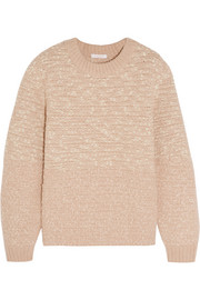 Metallic-flecked wool-blend bouclé sweater