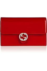 Gucci Icon glossed-leather continental wallet