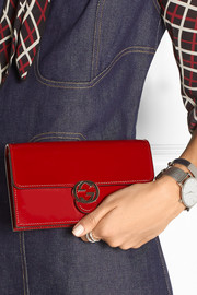 Icon glossed-leather continental wallet