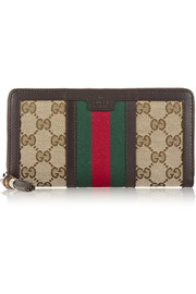 Rania monogrammed canvas wallet