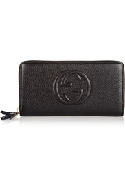 Soho textured-leather continental wallet