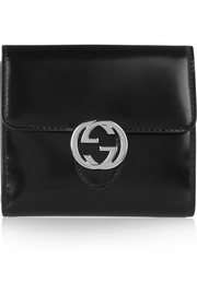 Icon glossed-leather wallet