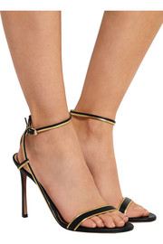 Valentino Metallic-trimmed leather sandals