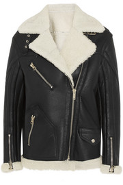Fay oversized shearling coat