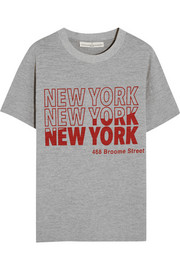 New York printed cotton-jersey T-shirt