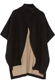 Palomina reversible wool-blend cape