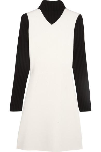 Theory. Myrelle wool-blend turtleneck mini dress