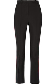 Skinny pants in black grain de poudre wool