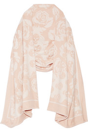 Wool and cashmere-blend jacquard wrap