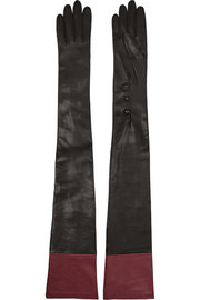 Alexander McQueen Two-tone leather gloves