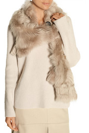 Shearling scarf