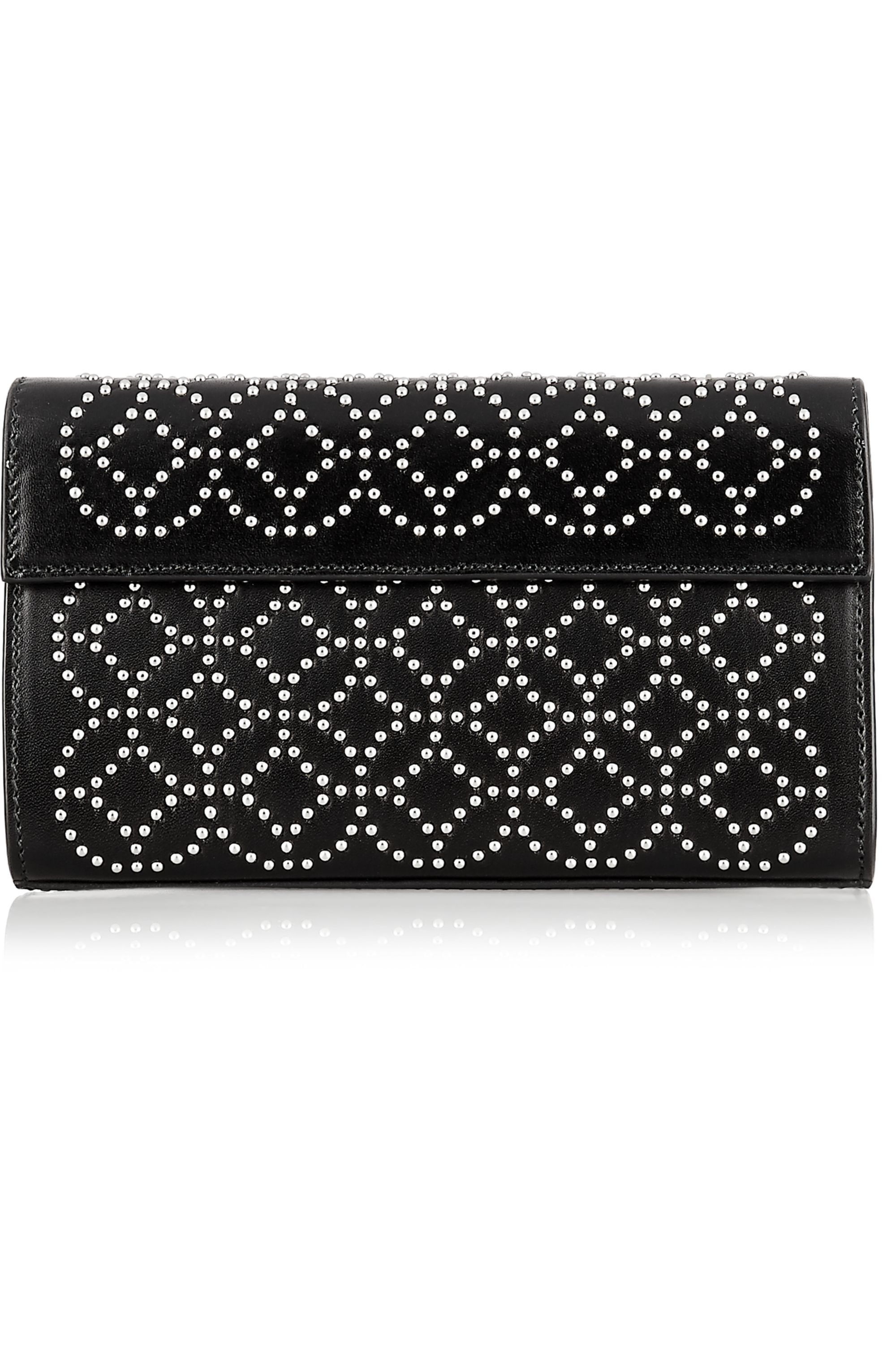 Alaïa Arabesque mini embellished leather clutch
