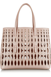 Entrelacs large laser-cut leather tote
